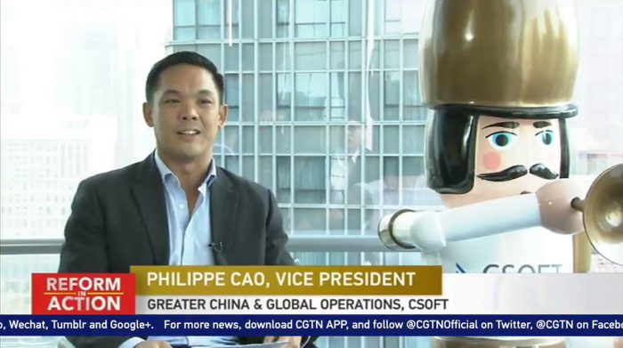 CSOFT Vice President on CGTN: Localization Strategy in China