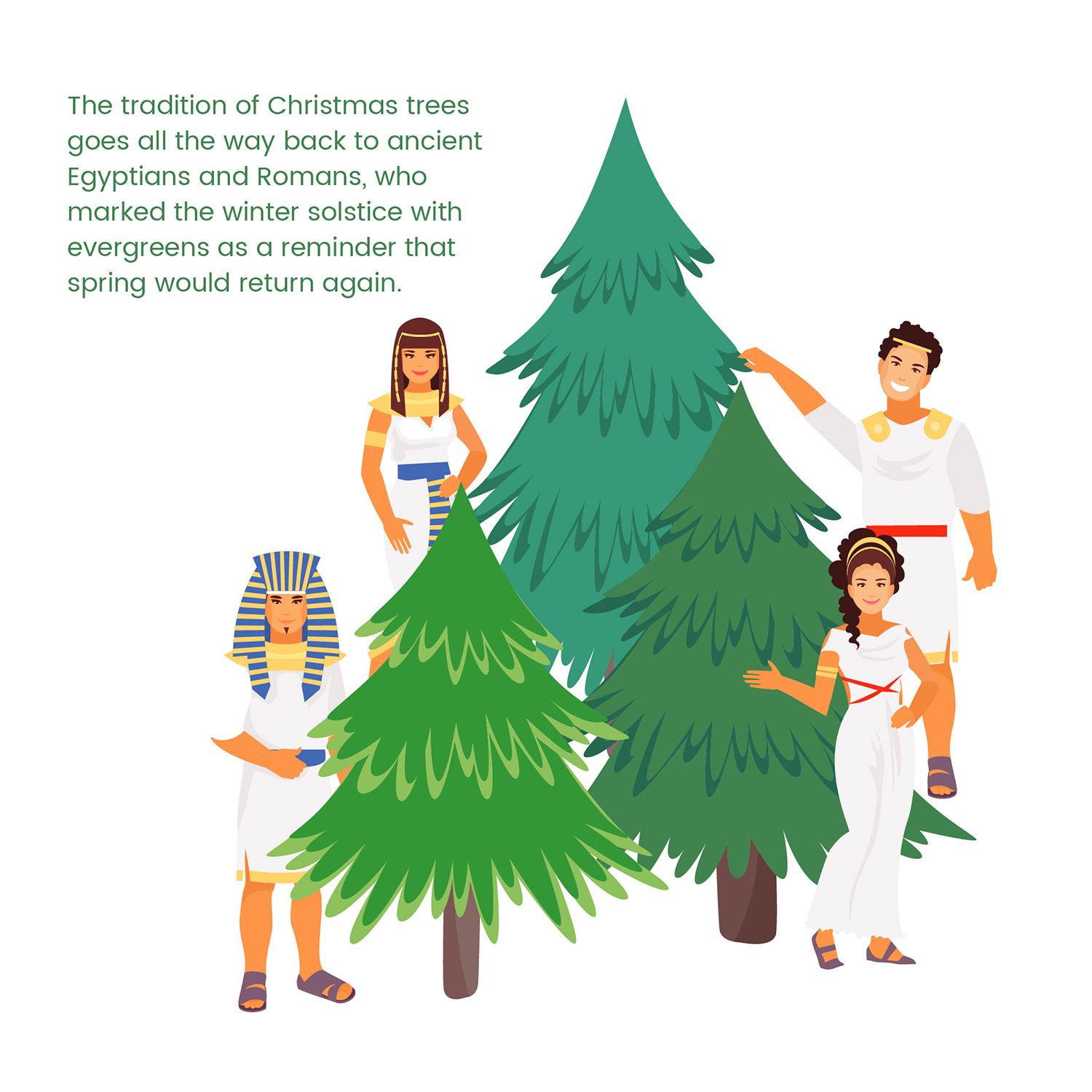 Does the iconic Christmas tree have connections to other global holidays and traditions?