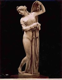 """A picture of """"Aphrodite Kallipygos"""" statue. Taken by Giorgio Sommer at the Naples National Museum."""