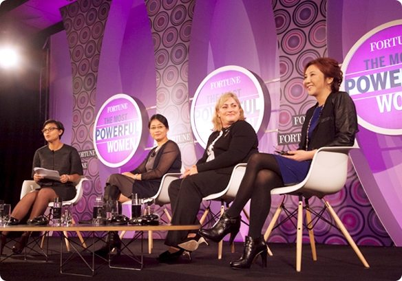 Image of a four woman panel at Fortune MPW Asia Conference