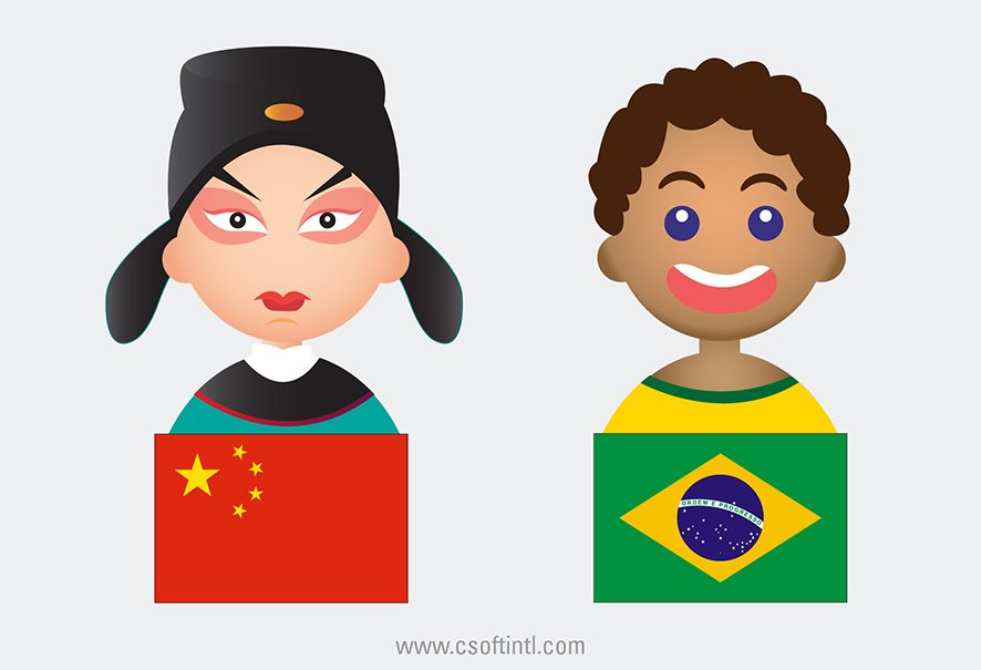 China and Brazil Multiculturalism