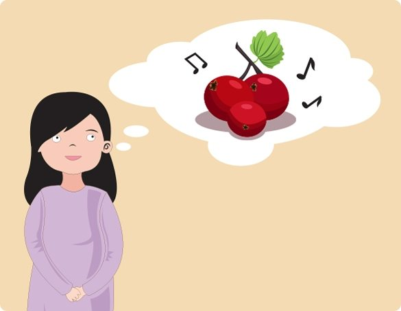 Image of CSOFT's Linda Liang daydreaming about musical cranberries