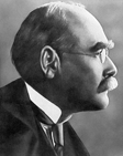 A photo of Rudyard Kipling, English poet and writer.