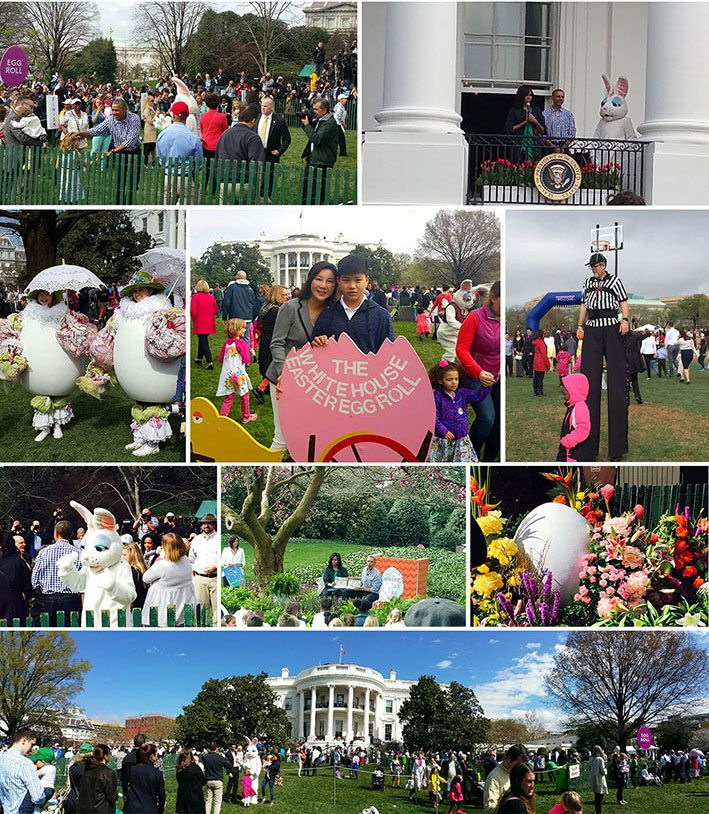 Shunee and Family Attend Easter Egg Roll at the White House