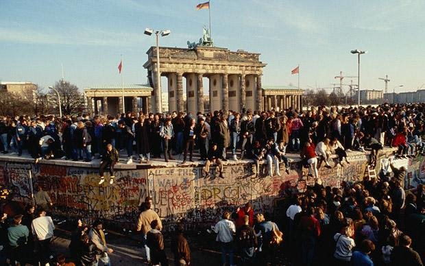 The Brandenburg Gate and the Berlin Wall - taken from http://www.telegraph.co.uk/