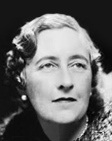 A picture of best-selling crime author, Agatha Christie.