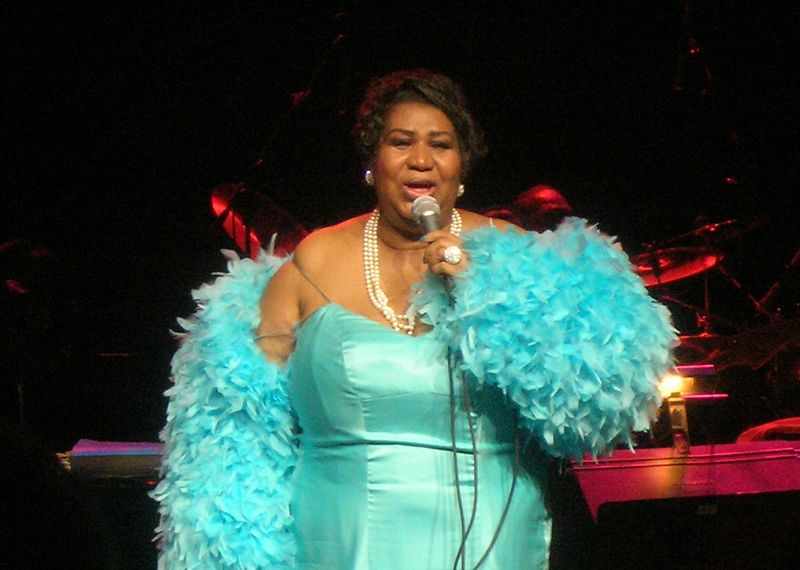 Picture of Aretha Franklin performing at the Nokia Theater in Dallas, Texas, on April 21, 2007. Photo taken by Ryan Arrowsmith.