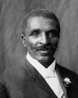 A photo of George Washington Carver, a talented contributor to agricultural economics.