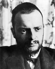 A photo of Paul Klee, Swiss artist.