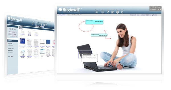 A screenshot of ReviewIT, the localization industry's first online, collaborative document annotation and review platform.