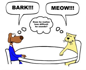 "A Dog and Cat discuss their ""cultural differences"""
